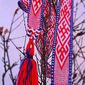 """Русский стиль ручной работы. Ярмарка Мастеров - ручная работа """"Сварог и Лада"""" - Тканый пояс. Handmade."""