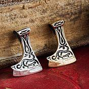Украшения handmade. Livemaster - original item Amulet The Axe Of Perun. The Axe Of Perun. Slavic amulet. bronze silver.. Handmade.