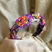 Украшения handmade. Livemaster - original item Rim Wreath Blooming Gardens. Handmade.