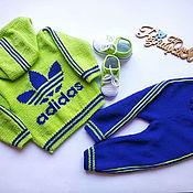 Одежда детская handmade. Livemaster - original item Knitted sports suit