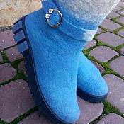 """Обувь ручной работы. Ярмарка Мастеров - ручная работа Сапоги валенки """"Высокие"""". Handmade."""