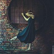 """Одежда ручной работы. Ярмарка Мастеров - ручная работа Бохо-платье """"Слепок изогнутых линий"""". Handmade."""