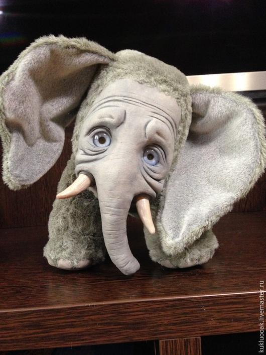 Игрушки животные, ручной работы. Ярмарка Мастеров - ручная работа. Купить Слоня . Авторская игрушка. Handmade. Серый, искусственный мех