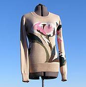 """Одежда ручной работы. Ярмарка Мастеров - ручная работа """"Пионы"""" джемпер. Handmade."""