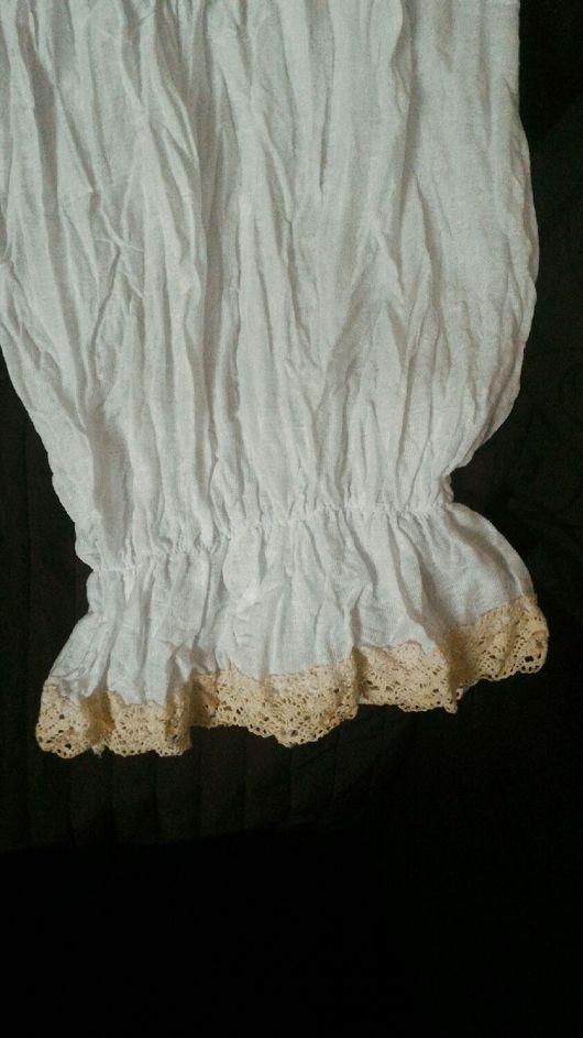 Белье ручной работы. Ярмарка Мастеров - ручная работа. Купить Нижние штанишки в стиле Бохо с хлопковым кружевом. Handmade.
