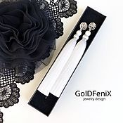 Украшения handmade. Livemaster - original item Earrings-tassels Bride`s morning light delicate white silk pearl rhodium. Handmade.