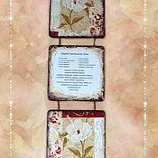Картины и панно ручной работы. Ярмарка Мастеров - ручная работа Триптих. Цветочные. 3 вида. Handmade.