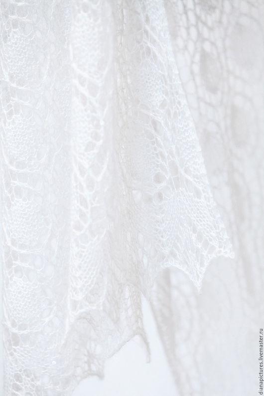Одежда и аксессуары ручной работы. Ярмарка Мастеров - ручная работа. Купить Палантин двухсторонний свадебный. Handmade. Белый, шаль ажурная