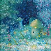 Картины и панно ручной работы. Ярмарка Мастеров - ручная работа Лунная пасека. Handmade.