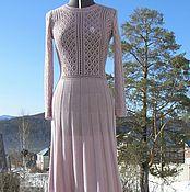 """Одежда ручной работы. Ярмарка Мастеров - ручная работа """"Розовый кварц"""" платье кашемир/шелк. Handmade."""