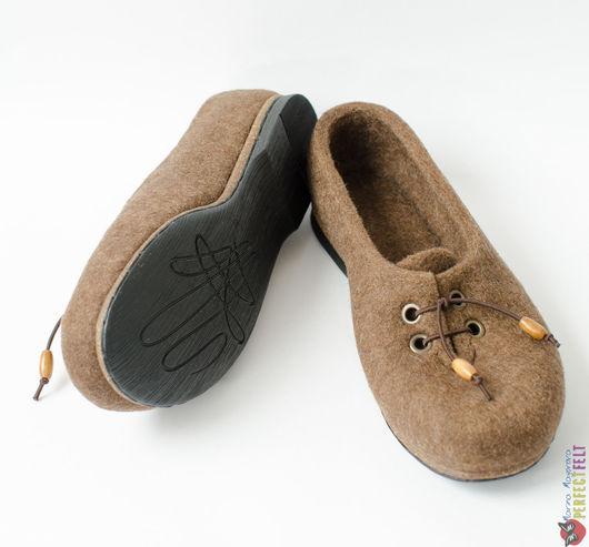 Туфли ручной работы из войлока `Туфельки для Грэтхен`. Купить туфли женские в Санкт-Петербурге