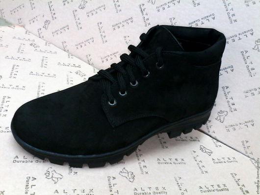 Обувь ручной работы. Ярмарка Мастеров - ручная работа. Купить Ботинки мужские зимние.. Handmade. Ботинки мужские, натуральный мех