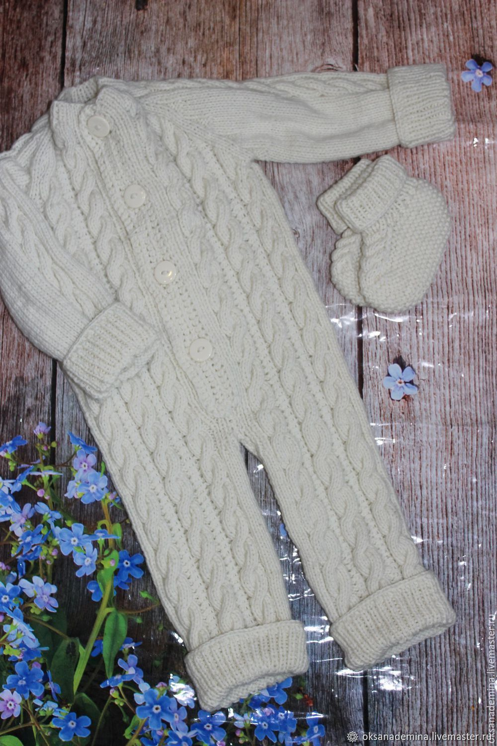 knitted Romper for baby, Overall for children, Stupino,  Фото №1