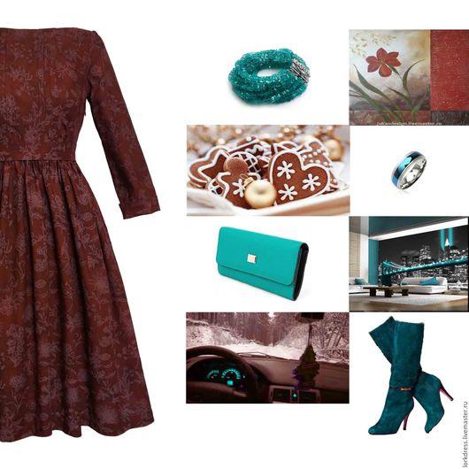 Платья ручной работы. Ярмарка Мастеров - ручная работа. Купить Платье Botany. Handmade. Бордовый, пышная юбка, зимняя мода