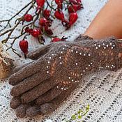 Аксессуары handmade. Livemaster - original item Down gloves