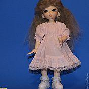 Куклы и игрушки ручной работы. Ярмарка Мастеров - ручная работа Парик для БЖД куклы формата Литлфи размер 6-7. Handmade.
