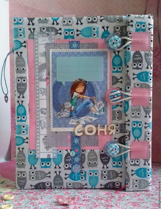 Блокноты ручной работы. Ярмарка Мастеров - ручная работа. Купить Дневник для девочки. Handmade. Дневник для девочки, приятный подарок