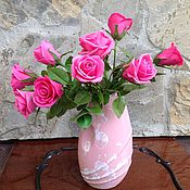 Цветы и флористика handmade. Livemaster - original item A bouquet of crimson roses. Handmade.
