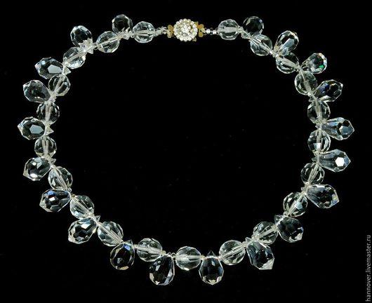 Винтажные украшения. Ярмарка Мастеров - ручная работа. Купить Хрустальное ожерелье из крупных бусин, Яблонец,Чехия, 80-х годов прошл. Handmade.