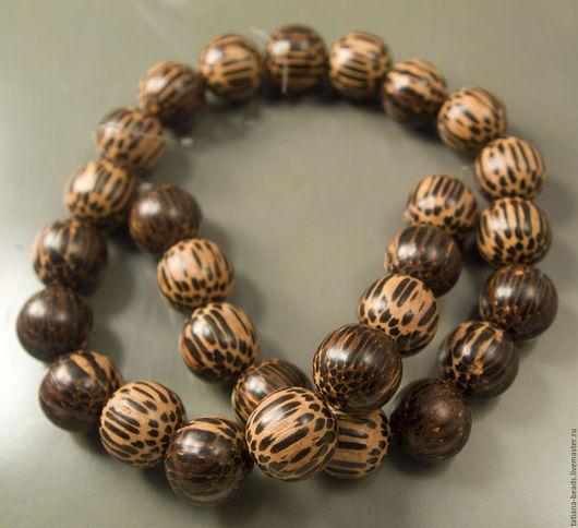 Для украшений ручной работы. Ярмарка Мастеров - ручная работа. Купить Бусины шарики темно-коричневые из дерева старой пальмы 20, 15, 8, 6 мм. Handmade.