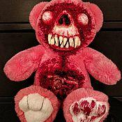 Игрушки ручной работы. Ярмарка Мастеров - ручная работа Зомби-мишка Аутопсишка розовый. Handmade.