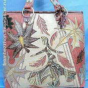 """Сумки и аксессуары ручной работы. Ярмарка Мастеров - ручная работа Кожаная сумка """"Осень, рыжая плутовка"""". Handmade."""