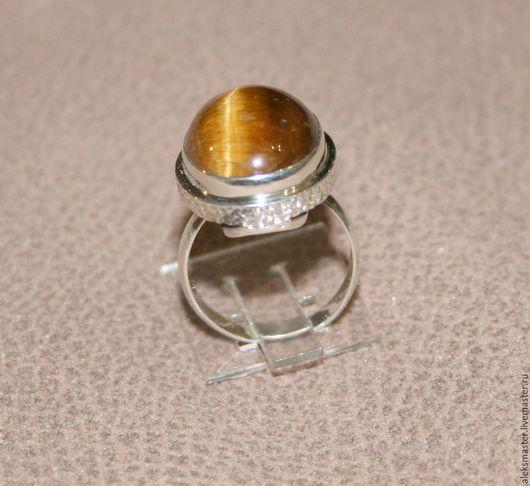 Кольца ручной работы. Ярмарка Мастеров - ручная работа. Купить Кольцо с тигровым глазом. Handmade. Серебро 925 пробы, комбинированный