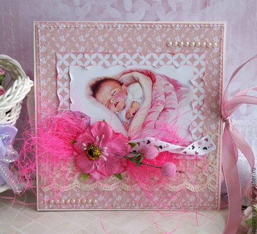 Подарки для новорожденных, ручной работы. Ярмарка Мастеров - ручная работа. Купить Конверт для двух дисков ручной работы. Handmade. Розовый