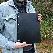 Канцелярские товары handmade. Livemaster - original item Nominal leather notebook A4 on the rings. Handmade.