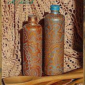 Посуда ручной работы. Ярмарка Мастеров - ручная работа Бутылки ручная роспись для масла, уксуса, напитков. Handmade.