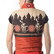 "Vests handmade. Livemaster - original item Жилетка ""Лесная"" от Russian style. Handmade."