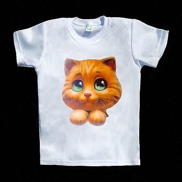 """Одежда ручной работы. Ярмарка Мастеров - ручная работа Футболка """"Малыш котик"""". Handmade."""