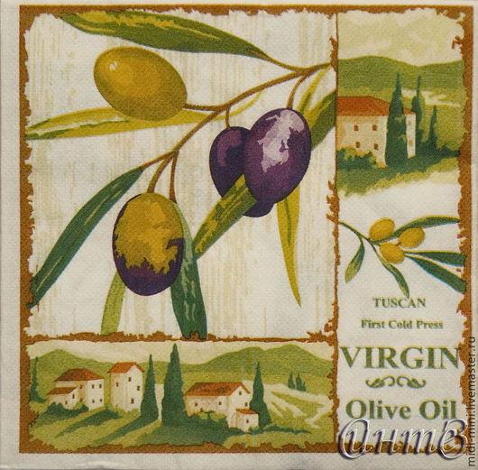 салфетки декупаж оливки маслины оливковая ветвь принт