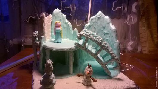 """Кулинарные сувениры ручной работы. Ярмарка Мастеров - ручная работа. Купить Замок Эльзы """"Холодное сердце"""". Handmade. Бирюзовый, замок"""