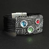 Bead bracelet handmade. Livemaster - original item Leather Bracelet