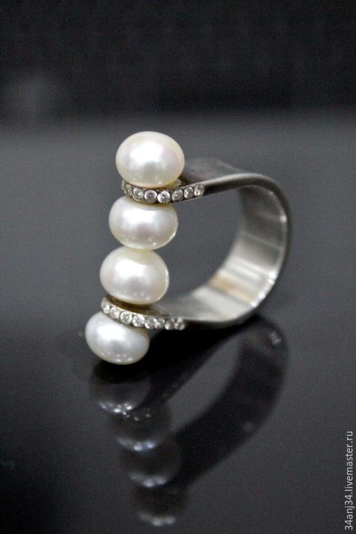 """Кольца ручной работы. Ярмарка Мастеров - ручная работа. Купить Кольцо """" Небесный Поцелуй """". Handmade. Белый"""