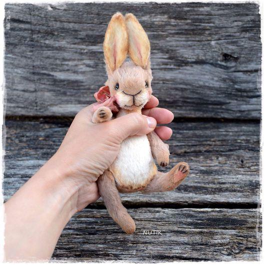 Мишки Тедди ручной работы. Ярмарка Мастеров - ручная работа. Купить Зайка тедди. Handmade. Серый, 2016 год, мишка