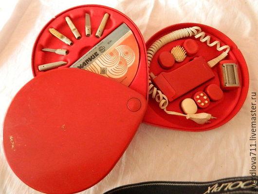 Персональные подарки ручной работы. Ярмарка Мастеров - ручная работа. Купить Косметический набор(ретро). Handmade. Ярко-красный, маникюрные приборы