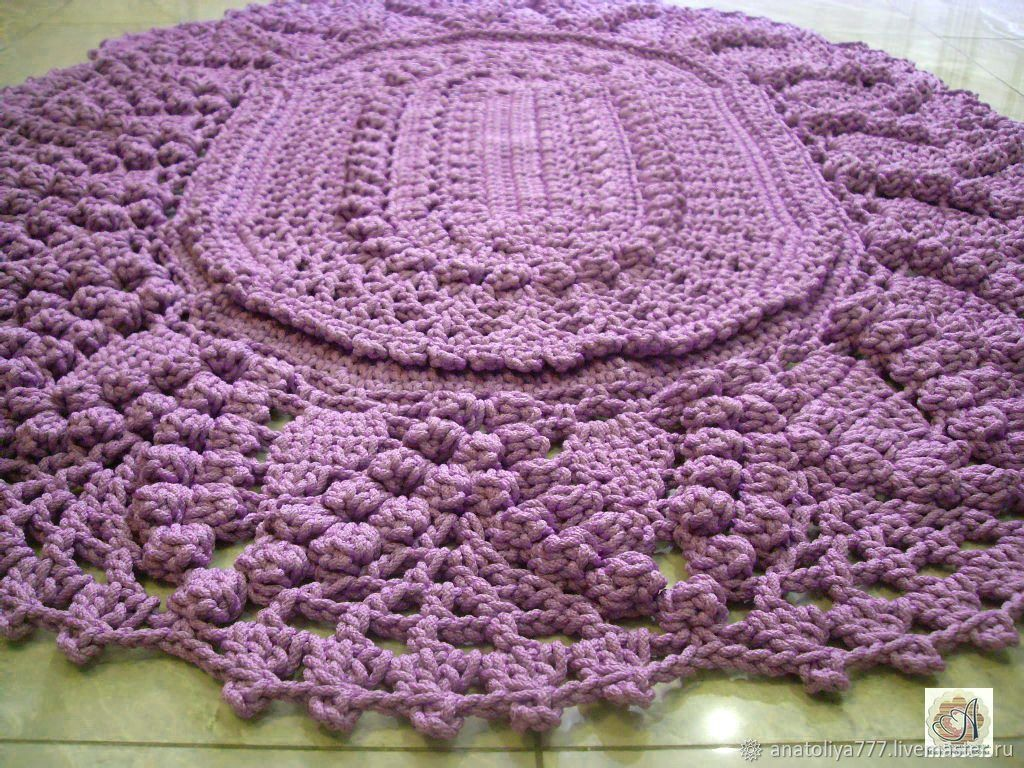 Rug crochet oval of cord, a Bunch of grapes – shop online on ...