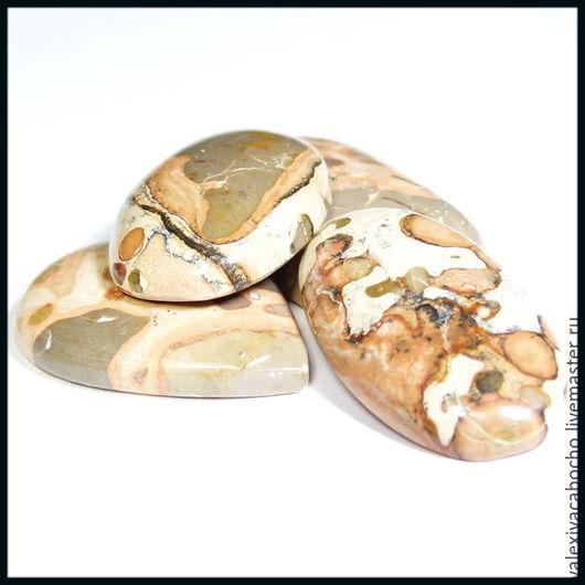 Для украшений ручной работы. Ярмарка Мастеров - ручная работа. Купить Кабошоны натуральный камень яшма. Handmade. Кабошон
