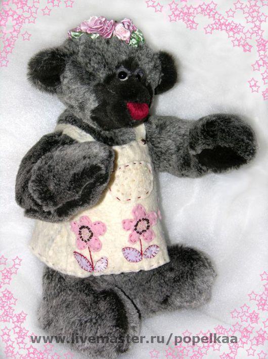 Мишки Тедди ручной работы. Ярмарка Мастеров - ручная работа. Купить Медведь Розарка. Handmade. Мех искусственный, мулине, войлок