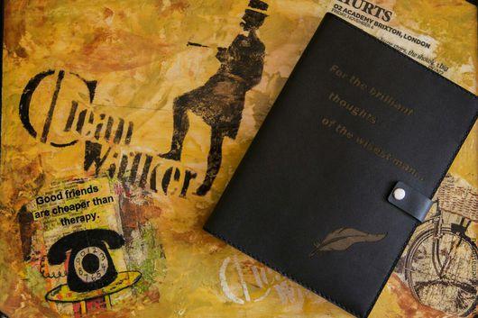Ежедневник с цитатами кожаный мужской от Alexander Awe