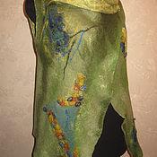 Одежда ручной работы. Ярмарка Мастеров - ручная работа Жилет - трансформер валяный Летнее настроение. Handmade.