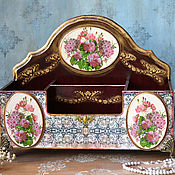 Свадебный салон handmade. Livemaster - original item Gifts: Organizer for the office of the Bouquet. Handmade.