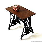 Мебель для кукол ручной работы. Ярмарка Мастеров - ручная работа Стол «Зингер» для кукол форматов 1:6, 1:4 МСД, 1:3 СД. Handmade.
