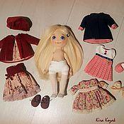 Куклы и игрушки ручной работы. Ярмарка Мастеров - ручная работа Кукла с набором одежды №9. Handmade.