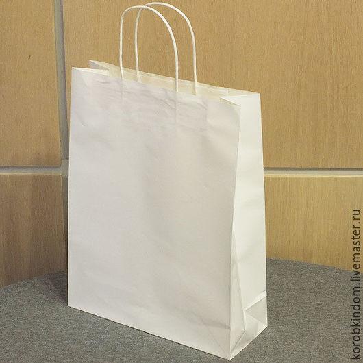 Упаковка ручной работы. Ярмарка Мастеров - ручная работа. Купить Пакет 28х36х10 белый с ручками из бумажного шпагата. Handmade. Пакет