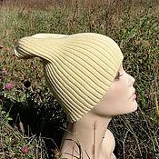 Аксессуары handmade. Livemaster - original item Beanie knitted hat, beanie, stocking cap, pumpkin. Handmade.