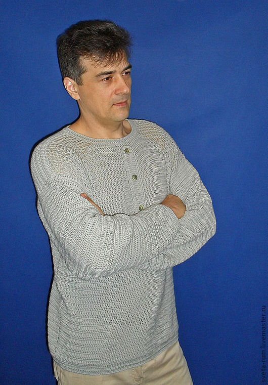 """Для мужчин, ручной работы. Ярмарка Мастеров - ручная работа. Купить Пуловер """"Новый поворот"""". Handmade. Ручная авторская работа"""