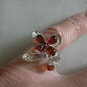 Украшения handmade. Livemaster - original item Ring JASMINE AMBER925 silver.. Handmade.
